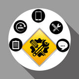 Technical service and call center icon design, vector illustration Stock Photo