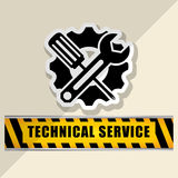 Technical service and call center icon design, vector illustration Royalty Free Stock Photography