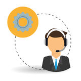 Technical service. call center icon. support concept Stock Image