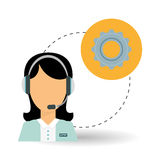 Technical service. call center icon. support concept Stock Images