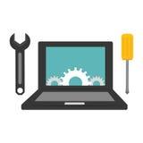 Technical service computers icon Stock Photos