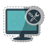 Technical service computers icon Royalty Free Stock Photos