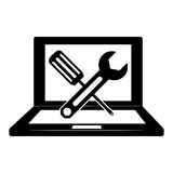 Technical service computers icon Royalty Free Stock Photography