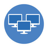 Technical service computers icon Royalty Free Stock Images