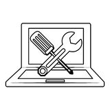 Technical service computers icon Stock Photography