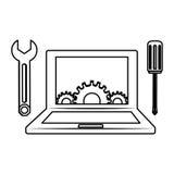 Technical service computers icon Stock Photo