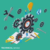Technical service, customer support vector concept Stock Photo