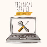Technical service. Design over white background, vector illustration Stock Photography