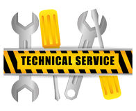 Technical service design. Royalty Free Stock Photography