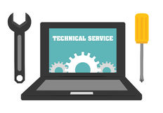 Technical service design. Royalty Free Stock Image