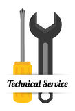 Technical service design. Stock Photography