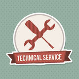 Technical service design Stock Photo