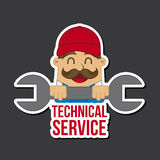 Technical service  icon Royalty Free Stock Photos
