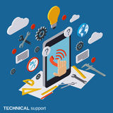 Technical service, online customer support vector concept Stock Photos