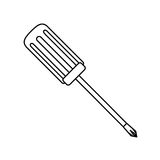 Technical service solutions screwdriver icon. Illustration Stock Image