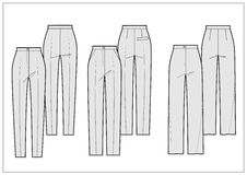 Technical sketch of pants Stock Photo