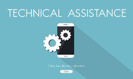 Technical Support Assistance Repair Concept. Technical Support Assistance Repair Settings Royalty Free Stock Photo
