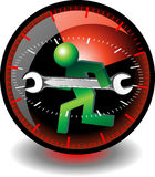Technical support button. Mobile technical support, a logo repair, service maintenance of machinery Stock Images