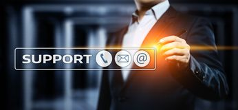 Technical Support Center Customer Service Internet Business Technology Concept.  Royalty Free Stock Photo