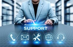 Technical Support Center Customer Service Internet Business Technology Concept Royalty Free Stock Photography