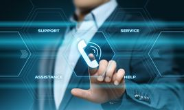 Technical Support Center Customer Service Internet Business Technology Concept.  Royalty Free Stock Photos