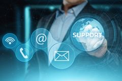Technical Support Center Customer Service Internet Business Technology Concept Stock Photography