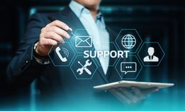 Technical Support Center Customer Service Internet Business Technology Concept.  Stock Images