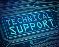 Technical support concept. Abstract style illustration depicting printed circuit board components with a technical support concept Stock Photos