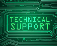 Technical support concept. Abstract style illustration depicting printed circuit board components with a technical support concept Royalty Free Stock Image
