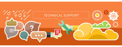 Technical Support Concept for Banner, Presentation Royalty Free Stock Photos