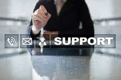 Technical support. Customer help. Business and technology concept. Royalty Free Stock Photo