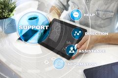 Technical support. Customer help. Business and technology concept. Stock Image