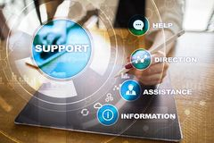Technical support. Customer help. Business and technology concept. Stock Photography