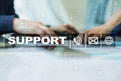 Technical support. Customer help. Business and technology concept. Stock Photo