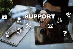 Technical support. Customer help. Business and technology concept. Technical support. Customer help. Business and technology concept Stock Images