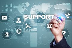 Technical support. Customer help. Business and technology concept. Technical support. Customer help. Business and technology concept stock photo