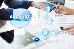 Technical support. Customer help. Business and technology concept. Technical support. Customer help. Business and technology concept Royalty Free Stock Images