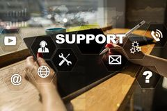 Technical support. Customer help. Business and technology concept. Royalty Free Stock Photography