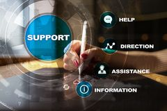 Technical support. Customer help. Business and technology concept. Stock Images