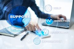 Technical support. Customer help. Business and technology concept. Royalty Free Stock Images