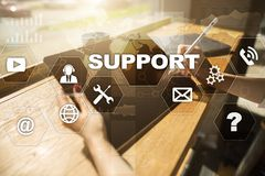 Technical support. Customer help. Business and technology concept. Royalty Free Stock Photos
