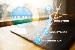 Technical support. Customer help. Business and technology concept. Technical support. Customer help. Business and technology concept stock photography