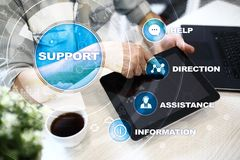 Technical support. Customer help. Business and technology concept. Technical support. Customer help. Business and technology concept royalty free stock photography