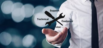 Technical Support Customer Service. Business concept stock photo