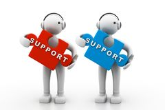 Technical support. 3d illustration of technical support Stock Photography