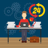 Technical support design. Illustration eps10 graphic Royalty Free Stock Photos