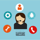 Technical support design Royalty Free Stock Image