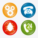 Technical support design Stock Images