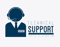 Technical support design Stock Photography