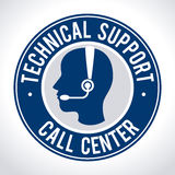 Technical support design Royalty Free Stock Images